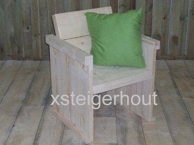 Tuinstoel steigerhout