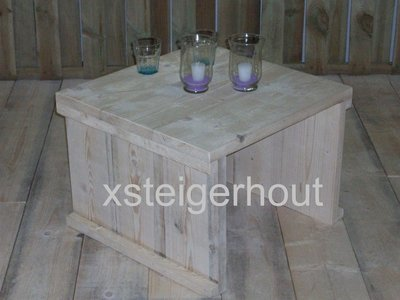 Lystrup outdoor industriele tuintafel steigerhout schragen pure