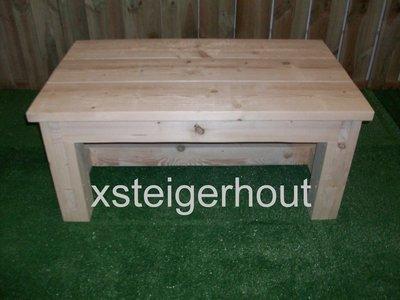 Salonkloostertafel bouwpakket steigerhout xsteigerhout for Bouwpakket steigerhout