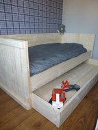 Steigerhout bed lade