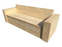 Klepbank steigerhout met opbergruimte
