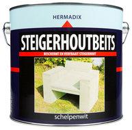 Steigerhoutbeits schelpenwit blik 2500ml