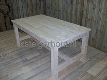 Steigerhout tafel klooster model zijaanzicht