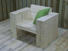 loungestoel steigerhout zijkant vooraanzicht