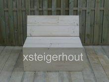 Hoekbank steigerhout deel van 1 meter