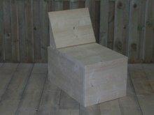 Hoekbank half meterstuk steigerhout