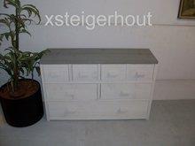 Dressoir steigerhout wit met grijs