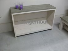 Side table steigerhout white en grey wash
