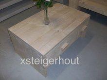 Salontafell steigerhout